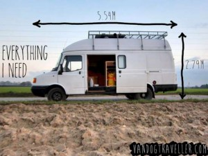 Idea! Convert A Van Into A Mobile Tiny Home