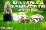 53 Fun Family Summer Activities Checklist