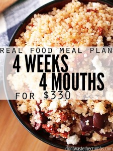 Recipes: Frugal Real Food Meal Plan