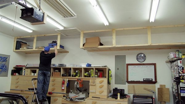 Diy Build High Garage Storage Shelves