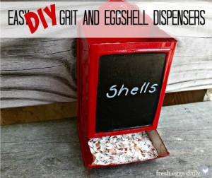 Easy DIY Grit And Eggshell Dispensers