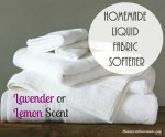 Recipe: Homemade Liquid Fabric Softener