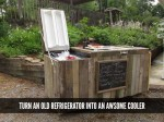 Make A Cooler From A Broken Refrigerator And Pallets