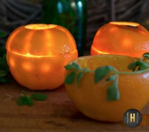How To Make Orange Rind Luminaries
