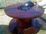 How To Make A BBQ Braai Table From An Industrial Cable Reel