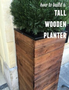 How To Build Tall Wooden Planters