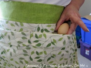 Make An Egg Gathering Apron From A Pillowcase
