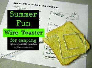 How To Make A Wire Toaster For Camping And Outdoor Cooking