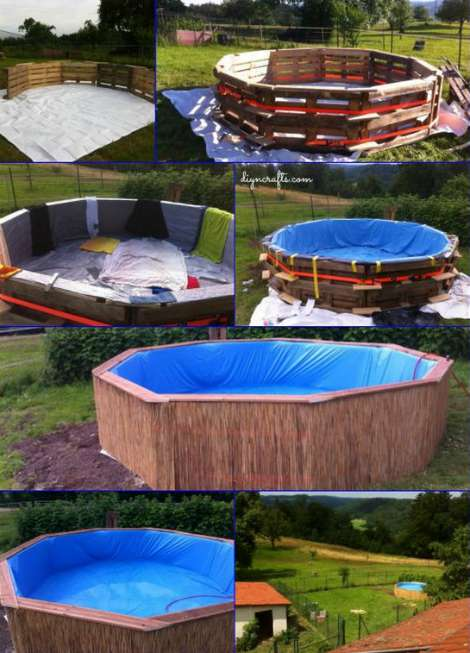 How to make a pallet swimming pool for Build your own swimming pool