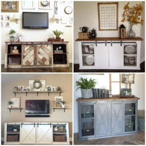 DIY Grandy Sliding Door Console Plans