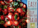Easy Strawberry Syrup (From Discarded Strawberry Tops!)