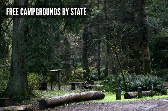 free-campgrounds-by-state