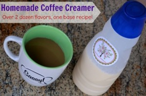 Homemade Coffee Creamer With Over 20 Flavor Varieties