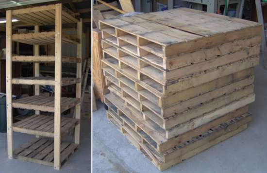 Easy DIY Pallet Shelving