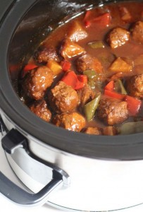 Crockpot Sweet And Sour BBQ Meatballs Recipe