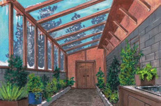 16 diy attached home greenhouses for House plans with greenhouse attached