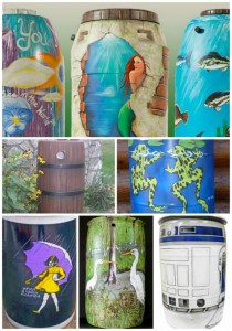 21 Ways To Beautify Your Rain Catchment Barrels