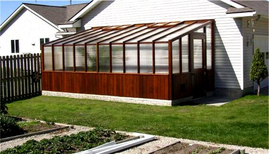 Cedar Lean To Greenhouse Attached Home Greenhouses
