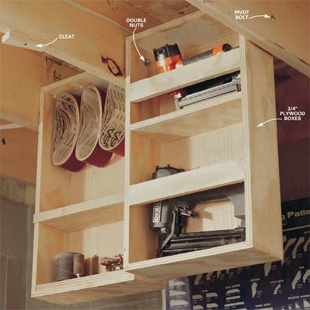 ceiling-joist-shelving-under-home-hidden-storage