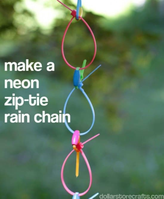 make-a-neon-ziptie-rainchain-diy-downspout-ideas