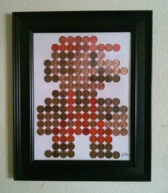 mario-penny-art-ways-to-repurpose-pennies