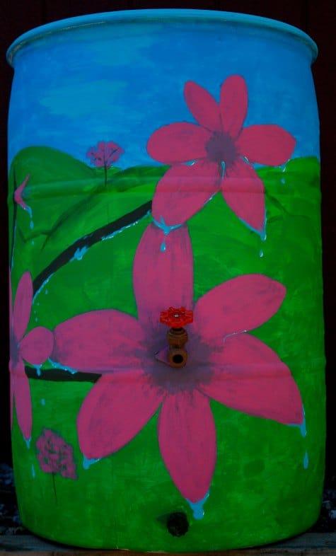 peach-blossoms-beautify-your-rain-catchment-barrels