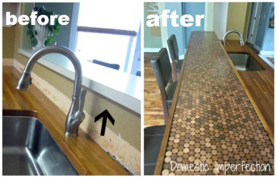penny-tiled-counter-ways-to-repurpose-pennies