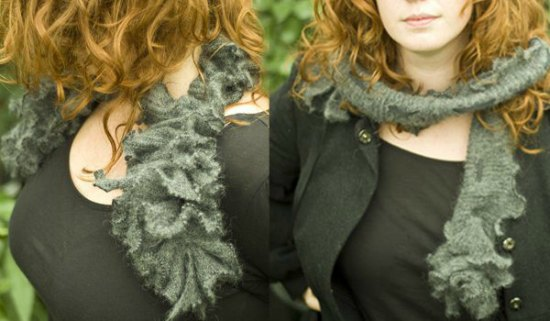 ruffled-scarf-ways-to-repurpose-old-sweaters