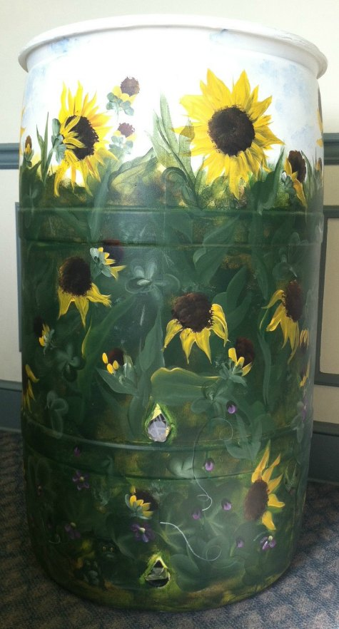 sunflowers-rain-barrel-beautify-your-rain-catchment-barrels