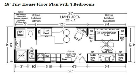 Marvelous Iny House Floor Plan Build A Mobile Tiny