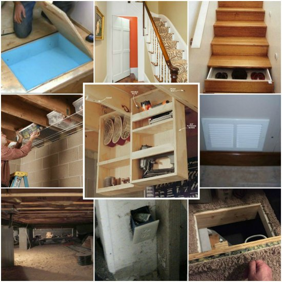 15 under home hidden storage ideas for Hidden storage ideas