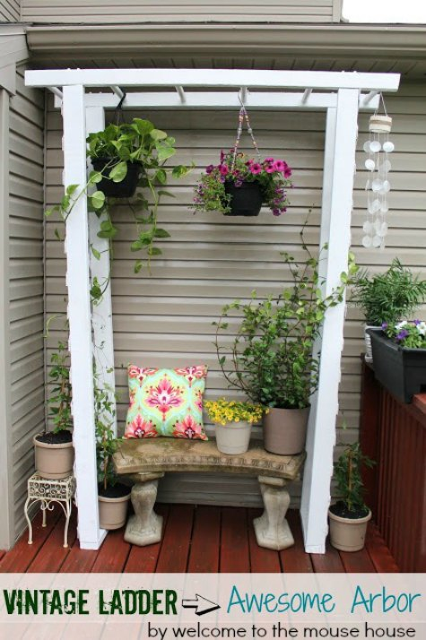 vintage-ladder-diy-backyard-arbor