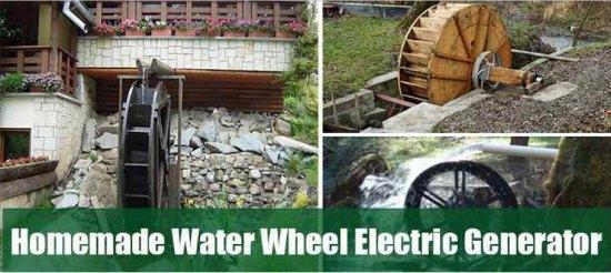 water-wheel-electric-generator