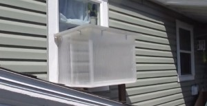 Off Grid Window Box Solar Heater Doubles As a Sun Oven