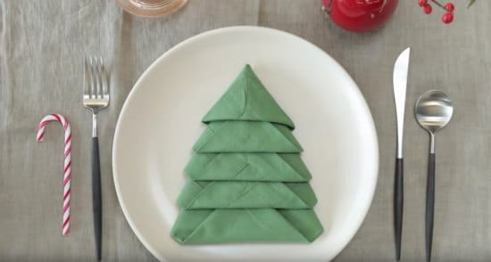fold-napkins-to-look-like-christmas-trees