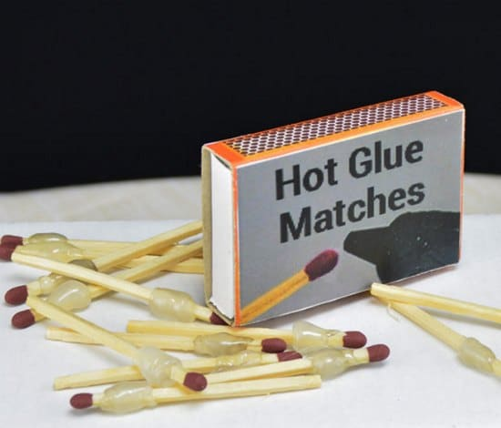 hot-glue-matches