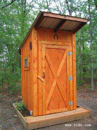Outhouse door
