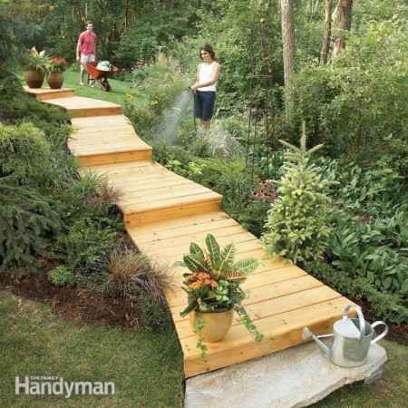 18 diy garden path ideas - How to build a garage cheaply steps ...