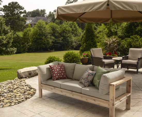 18 diy patio furniture ideas for an outdoor oasis for Patio furniture designs plans