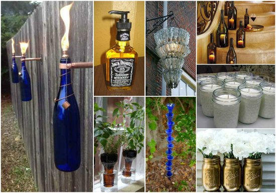 Beer Bottle Crafts Garden Recycled Glass