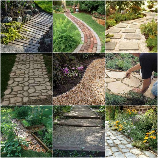 18 diy garden path ideas for Diy home garden design