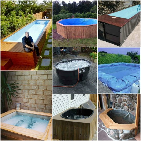 17 diy hot tubs and swimming pools for Diy pool house plans