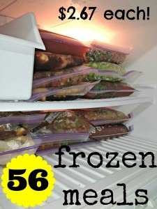 56 Frozen Meals For $2.67 Each