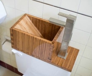 Build This Water-Saving Toilet Tank Sink