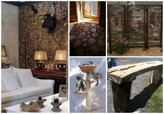 18 Ways To Upcycle Logs And Tree Branches