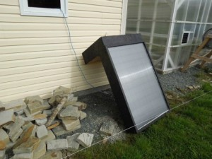 DIY Window Mounted Solar Hot Air Furnace