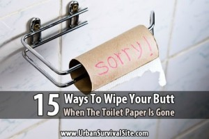15 Alternatives To Toilet Paper In An Emergency