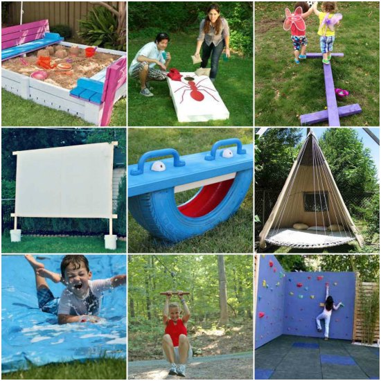 - 20 Awesome DIY Outdoor Play Equipment For Kids