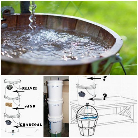 How to build a bio water filter with five gallon buckets for Diy pond filter bucket