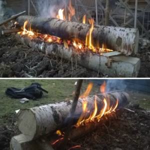 Build A Finnish Gap Fire For All Night Warmth